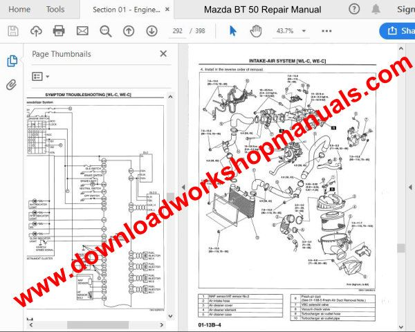 Mazda bt50 wiring diagrams